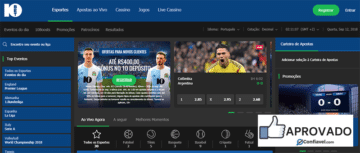 Homepage do 10Bet