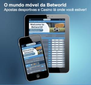 imagem sobre o Betworld mobile