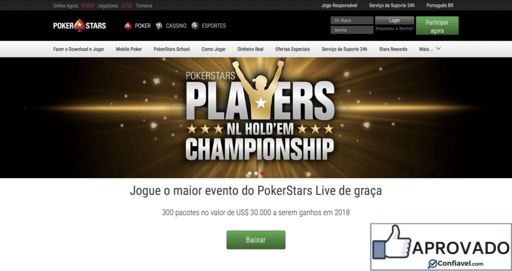 PokerStars é confiável