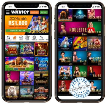 tela de jogos do winner no celular