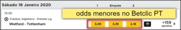 Odds do Betclic PT