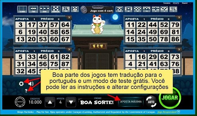 """""""Boa parte dos jogos têm tradução para o português e um modo de teste grátis. Você pode ler as instruções e alterar configurações."""