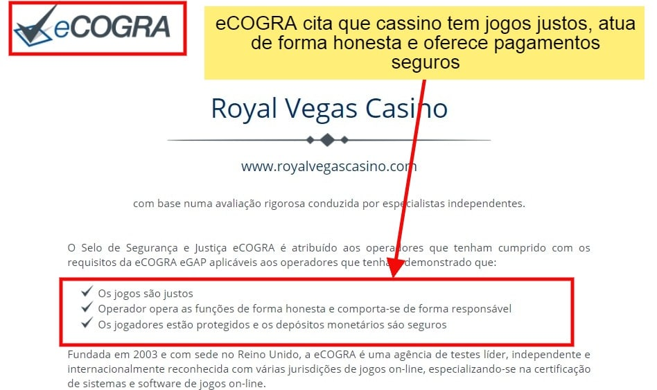 auditoria royal vegas é confiável