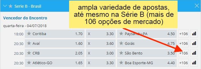 6dcfaec65 Sportingbet traz opções de campeonatos da segunda divisão, em diversos  mercados de apostas