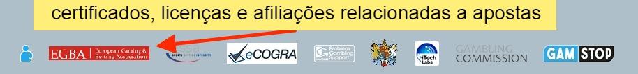 certificados, licenças e afiliações relacionadas a apostas Sportingbet