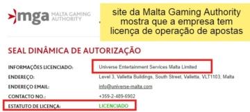 Licença internacional do Cassino Winner