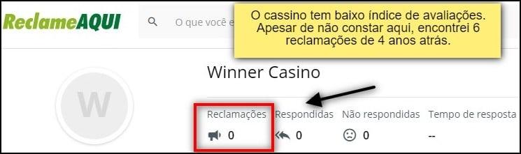 avaliação do winner cassino