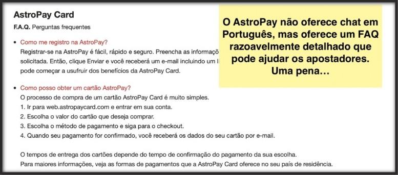 Atendimento AstroPay