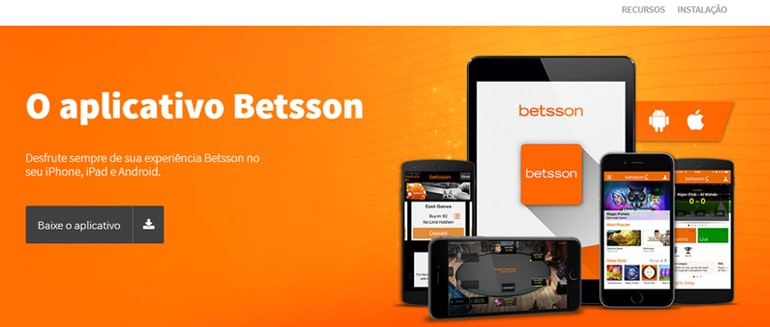 banner do aplicativo Betsson