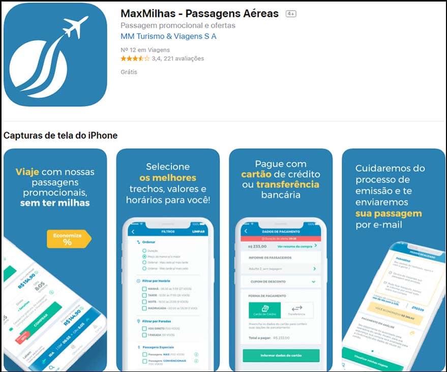 Maxmilhas app