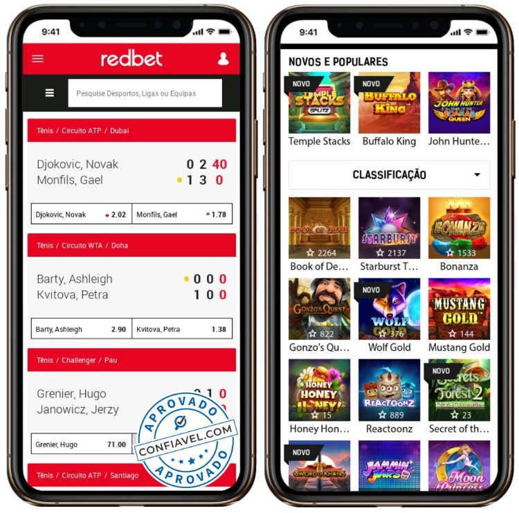 plataforma de cassino e apostas esportivas Redbet no smartphone