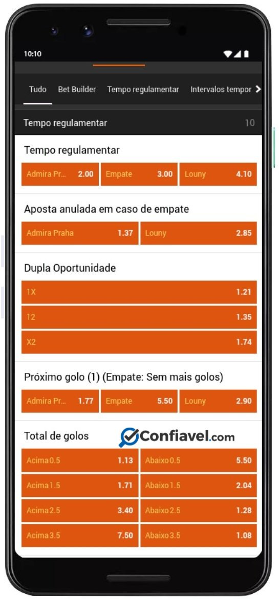 tela de apostas do 888sports no celular