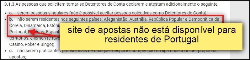 unibet site de apostas não está disponível para residentes em portugal