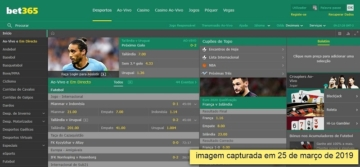 captura de tela do site bet365