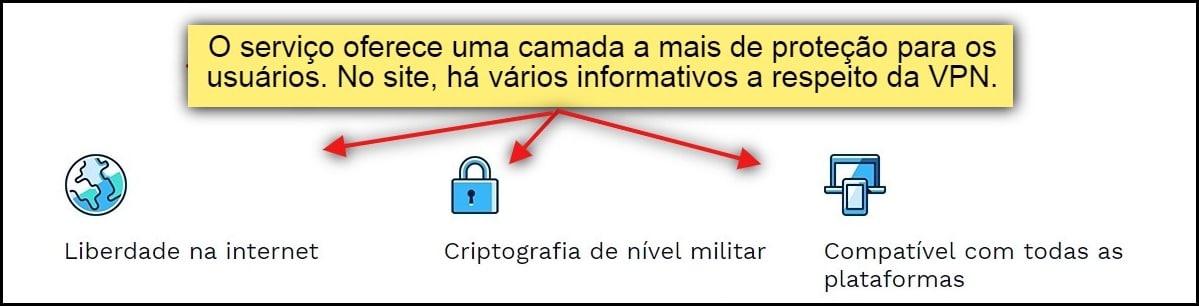 """""""O serviço oferece uma camada a mais de proteção para os usuários. No site, há vários informativos a respeito da VPN"""""""