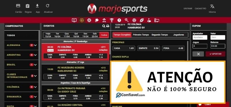 MarjoSports não é 100% seguro