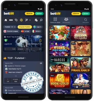 captura de tela do Bettilt no celular