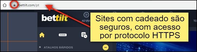 """Imagem com o seguinte texto: """"o cadeado indica que a conexão é segura e que o sigilo dos seus dados não corre riscos"""". Sites """"https"""" são seguros"""
