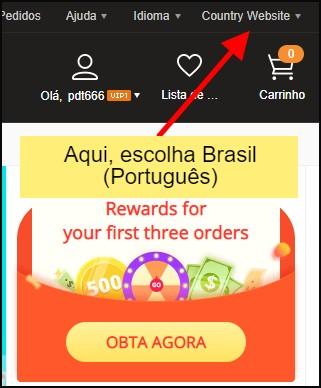 como acessar o Banggood em português