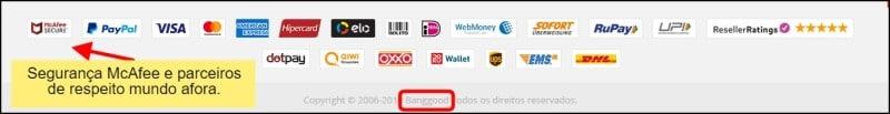certificados de segurança do site Banggood