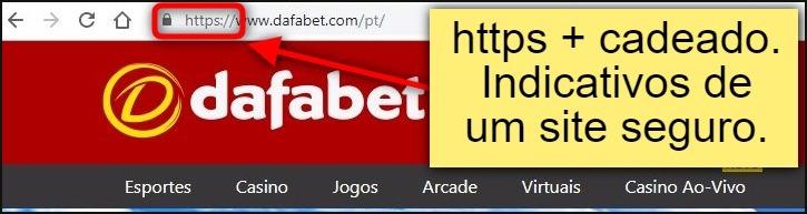 Demonstrações que o site do Dafabet é seguro.