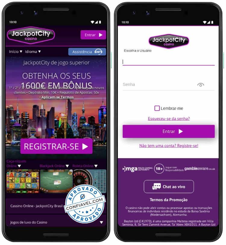 cassino online jackpotcity no celular