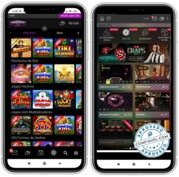 telas do jackpotcity no celular
