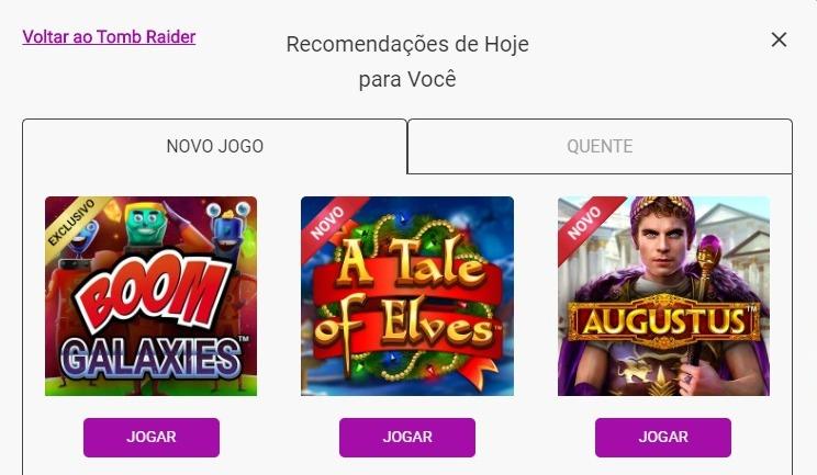 recomendação de jogos personalizados jackpotcity