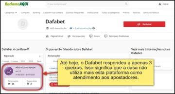 O Dafabet Brasil não usa o RA como meio de resolução de conflitos