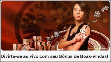 Banner de boas-vindas do cassino ao vivo LeoVegas