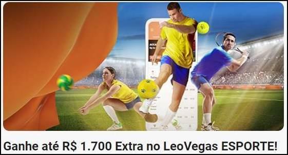 Banner do bônus de boas-vindas aos esportes LeoVegas