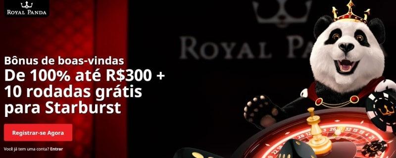 Bônus + giros grátis são as boas-vindas do Casino Royal Panda