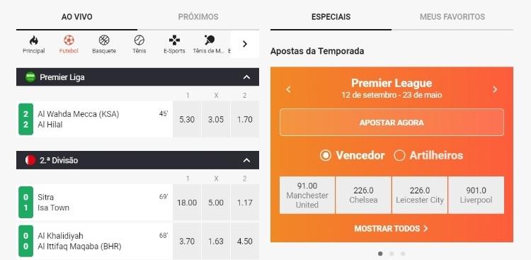 captura de tela do LeoVegas Sport