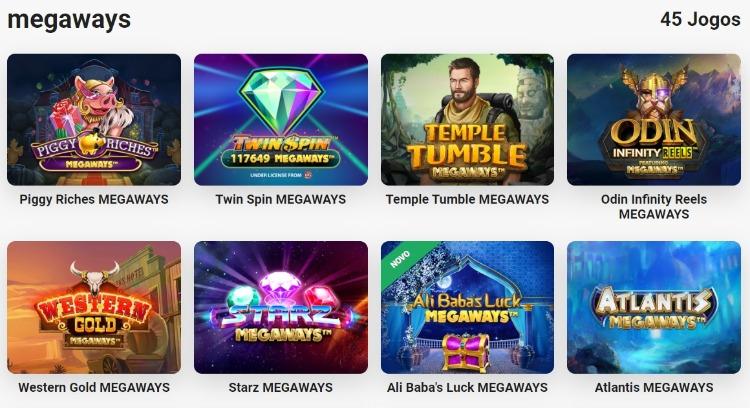 tela de jogos megaways no LeoVegas cassino
