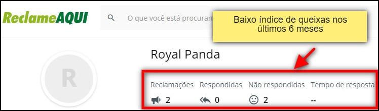 royal panda nota em site de resolução de conflitos