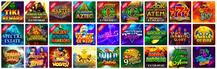 jogos caça-níqueis no Spin Casino