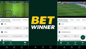 Telas do Betwinner app para Android