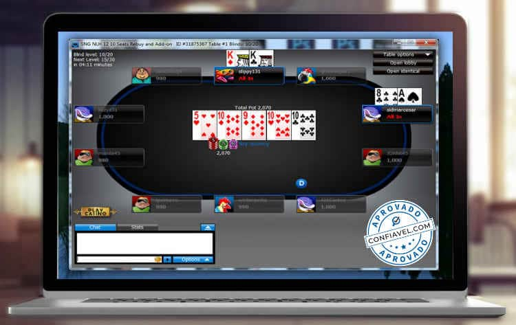 tela de torneio do 888poker
