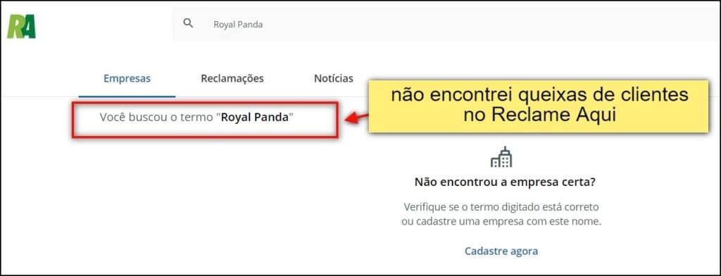 """""""não encontrei queixas de clientes no principal portal de conciliação usado por brasileiros"""""""