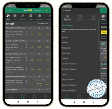 telas mobile do bet365