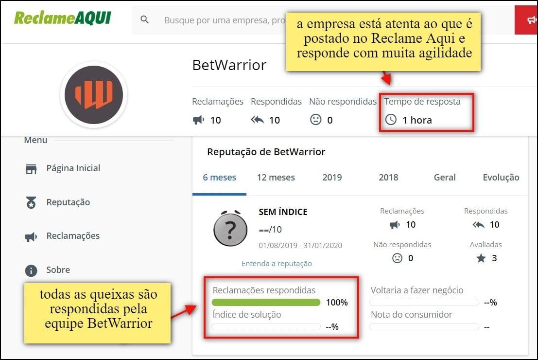 BetWarrior responde com agilidade