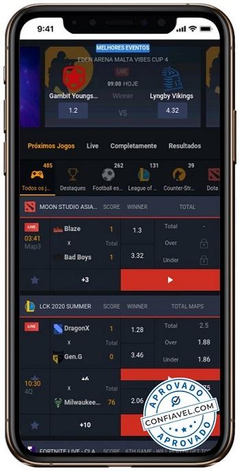 interface ggbet no celular