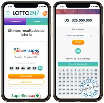 jogo de loteria na tela do celular