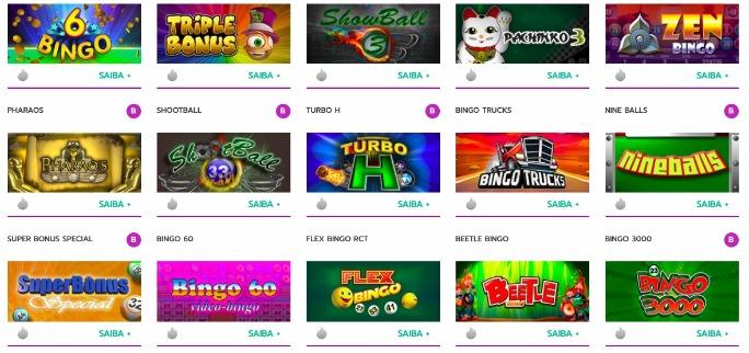 imagem com jogos de bingo online populares