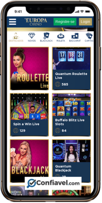 Com site responsivo, Europa Casino tem bom desempenho em mobiles