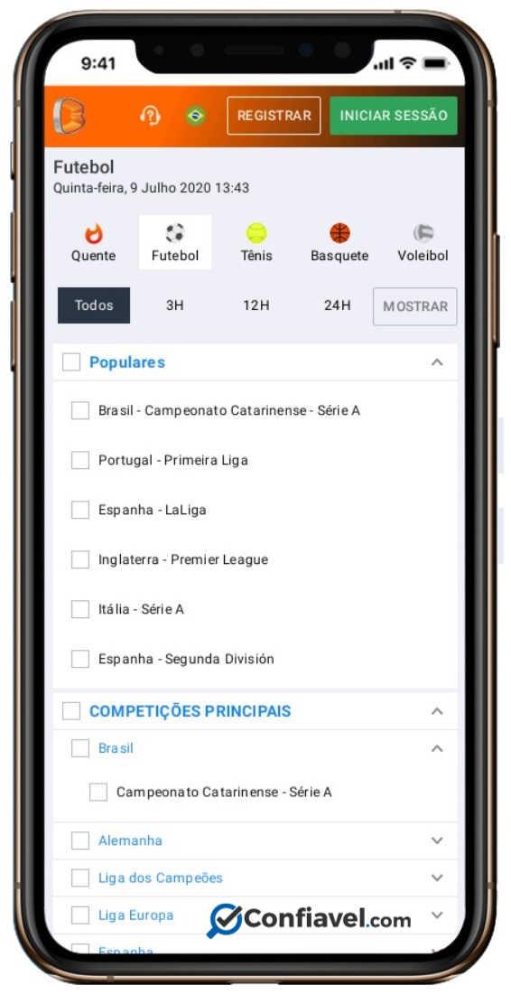 tela de apostas do Betano no smartphone