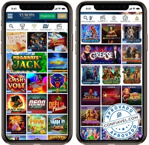 interface do europa casino no mobile