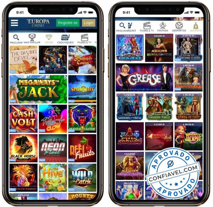 tela de jogos do Europa Casino