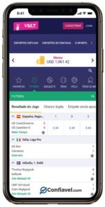 App do Vbet é muito bom, exclusivo para esportes. Tem para Android em português