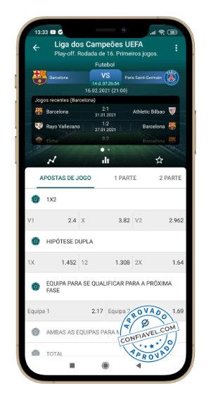 tela do aplicativo 22bet